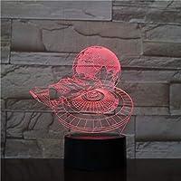 3Dイリュージョンナイトライト 映画のテーマ スマートタッチ キッズ3DLEDナイトライトファッション7色段階的に変化するスマートタッチスイッチUSBテーブルランプホリデークリスマスおもちゃギフト家の装飾