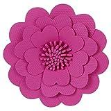 Mylin Flor De Fomi con Textura. Ideal Para Decorar Mesas de Dulces, Fiestas, Cumpleaños, Escenarios. Tamaño: 37 cm Color Fiusha