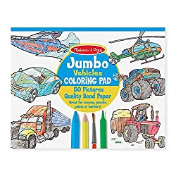 Jumbo Coloring Pad: Vehicles