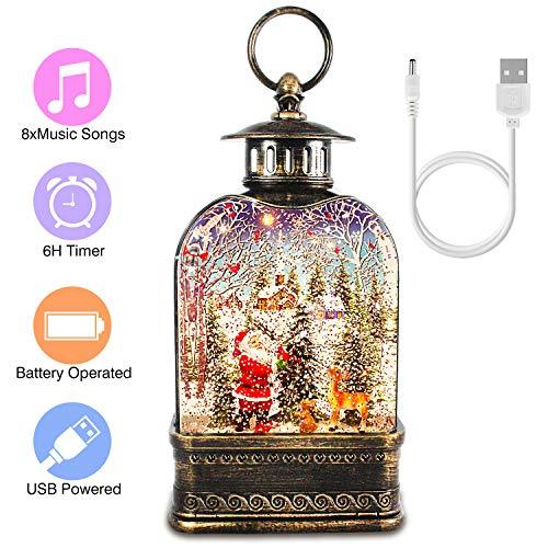Snow Globe Lantern, Christmas Musical Water Lantern...