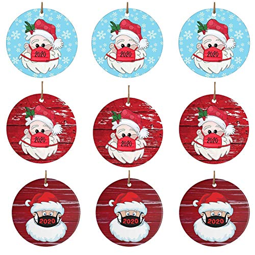 Fanteecy 15Pcs Christmas Ornament Quarantine Decoration Clearance Santa Decoration 2020 Christmas Xmas Tree Decor