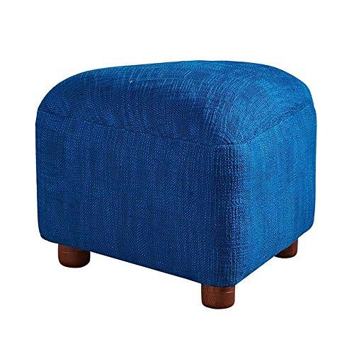 N/Z Home Equipment Home Garden Furniture Upholstered Footstoo Toy Foot Makeup Stool Change Shoe Bench Kitchen Shoe Bench(Color : Blue) Free Standing Shoe Racks (Color : Blue Size : 45x33cm)