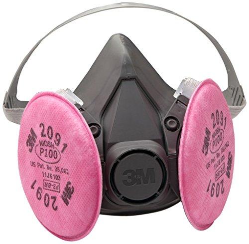 3M Half Facepiece Reusable Respirator Assembly 6391/07003(AAD), Large, P100 Respiratory Protection