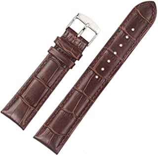 FOUUA Watch Bands 18mm 20mm 22mm 24mm Genuine Leather Watch Straps Alligator Embossed Replacement Clasp Buckle Wristbandsfor Men or Women