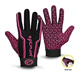Optimum Gloves Gants de Rugby Junior Velocity, Noir/Rose, 3X-Small (Mini) Unisex-Youth, Pink