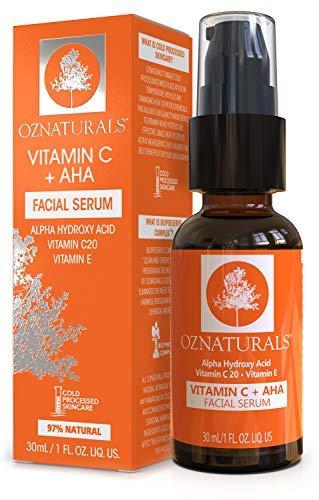 Vitamin C + AHA Serum by OZ Naturals
