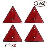 AOHEWEI 4 x Reflectores Traseros Rojos Triángulo Reflectante...