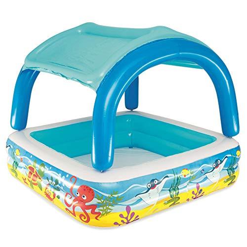 ZMCOV Planschbecken Summer, Swimmingpool Mit Dach Für Kinder Und Baby Aufstell-Pool Mit Sonnen-Schutz-Dach