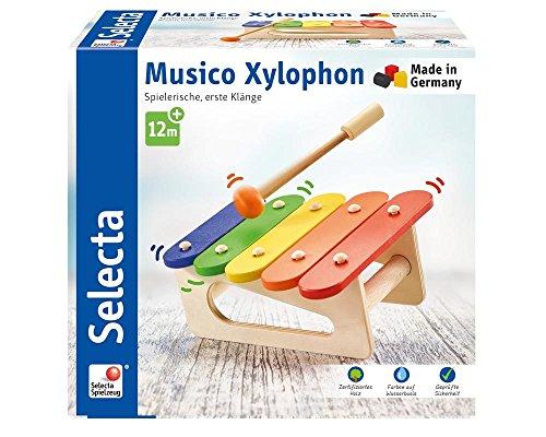 Selecta 62038 Musico, Xylophon Musikinstrument aus Holz, 19.5 cm