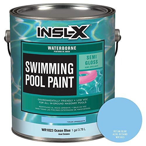 INSL-X WR102309A-01 Waterborne, Semi-Gloss Pool Paint, 1 Gallon, Ocean Blue