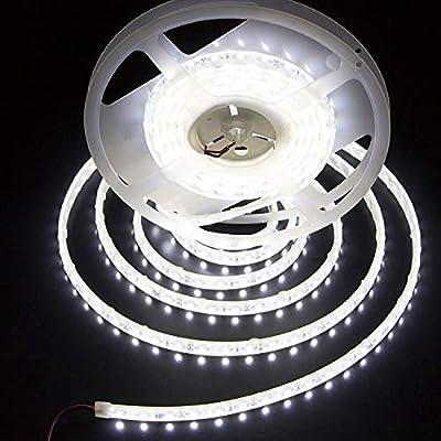 LEDMY Flexible Led Strip Lights UL(E477884) DC 24V 72W SMD5050 300LEDs Led Tape Light Daylight White 4000K 5Meter/ 16.4Feet Using for Gardens, Homes, Kitchen, Car and Bar (Cool White, 16.4Ft IP68)