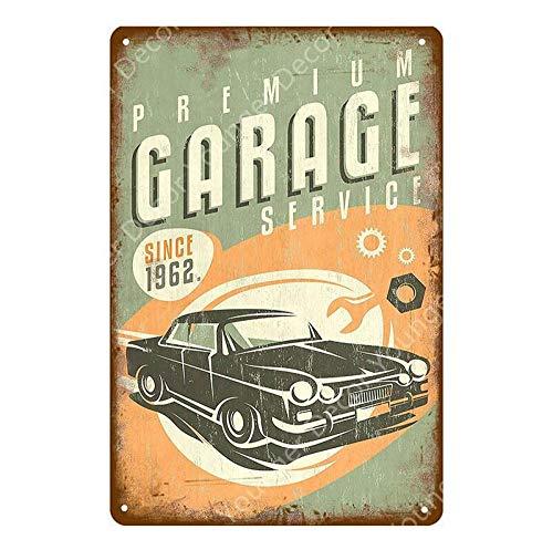 Shovv Garage reclame beschildering metalen poster vintage antieke muursticker auto bus motorolie banden winkel decor schilderij teken
