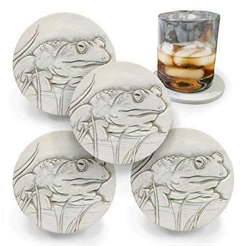 Absorbent Bull Frog Drink Coaster Max 84% OFF McCarter by Handmade Coast set Max 76% OFF