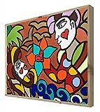 CCRETROILUMINADOS San Valentin Cuadro con Marco de Madera Retroiluminado, Metacrilato, Multicolor, 60 x 80