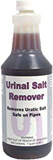 DETCO-Urinal Salt Remover | Safe on Pipes & Plumbing - Controls Odors - Cleans Rust, Scale, and Uratic Salt Build-Up - 1 Quart