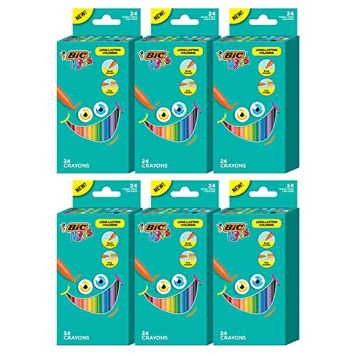 6-Pack 24-Count BIC Kids Crayons (Vivid Assorted Colors) $4.91 + Free Shipping w/ Prime or on $25+