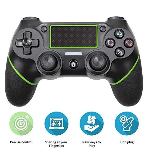 YMJJ Controlador inalámbrico para PS4, Control Remoto inalámbrico para Playstation 4 Dual Vibration Shock Joystick Gamepad para PS4 / PS4 Slim / PS4 Pro y PC,Verde