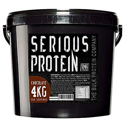 The Bulk Protein Company - SERIOUS Protein 4kg - Low Carb Lean Protein Powder 24g Per Serving - Chocolate Flavour
