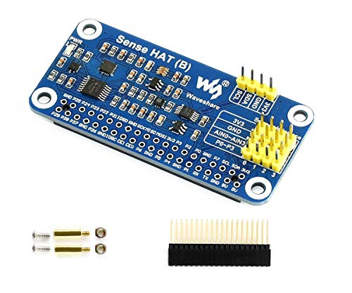 IBest Sense Hat (B) for Raspberry Pi 4B//3B+/3B/2B/B+/A+/Zero/Zero W Onboard Gyroscope, Accelerometer, Magnetometer, Barometer, Temperature And Humidity Sensor, I2C Interface