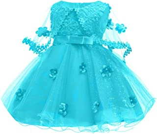 CAIYCAI 2019 Cute Baby Girl Dress Party Dresses for Girls 1St Year Birthday Party Princess Dress 0-6Yrs Baby Clothing