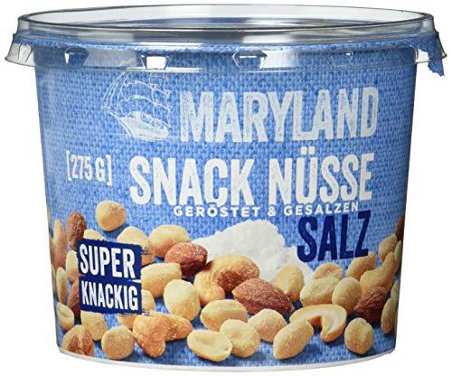 Maryland Snack Nüsse, geröstet und gesalzen, 6er Pack (6 x 275 g)