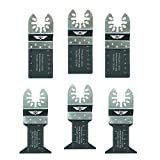 6 x TopsTools FAK6BMX Fast Fit Lames bi-métal pour Dewalt Black et Decker Bosch Fein...
