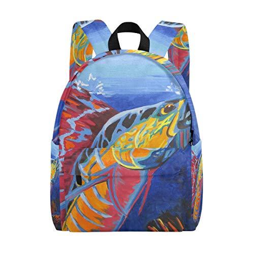 Schulrucksack Daypack Leichte Sailfish Rucksack Canvas Book Bag für Jungen Mädchen Kids Teens