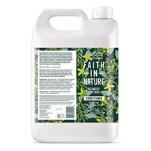 Faith In Nature Natural Seaweed and Citrus Conditioner, Detoxifying, Vegan...