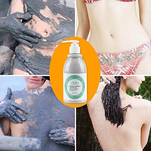 YakeHome 260ML Gel Douche Blanchissant Volcanic Mud Body Wash pour Le Nettoyage Hydratant Éclaircissant