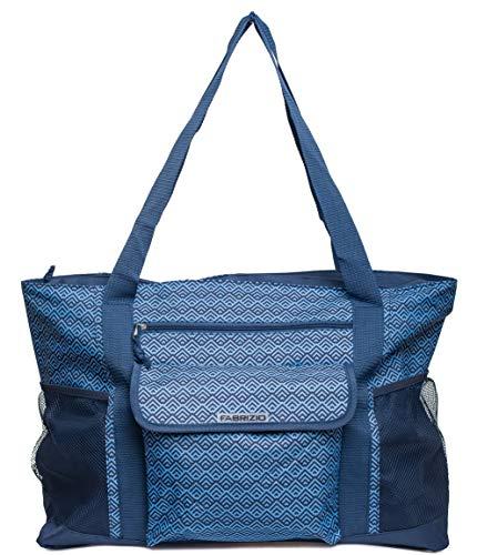 Fabrizio-XL-Strandtasche Saunatasche Shopper- XXL extragross (Blau)