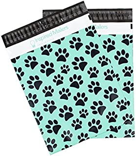 Inspired Mailers - Poly Mailers 10x13 - Puppy Paws - 100 Pack - 3.15mil Unpadded Mailing Bags - Packaging Envelopes - 10x13 Polymailer (10x13, 100 Pack)