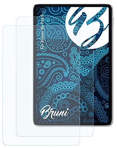 Bruni Schutzfolie kompatibel mit Xiaomi Mi Pad 5 Folie, glasklare Bildschirmschutzfolie (2X)