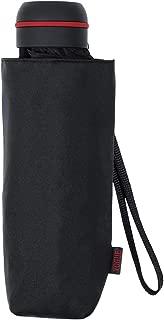Paraguas Vogue micromini Fabricado con Varillas de Aluminio de Doble Resistencia. Cerrado Mide 16,5 cm y sólo Pesa 250 gr. (Negro)