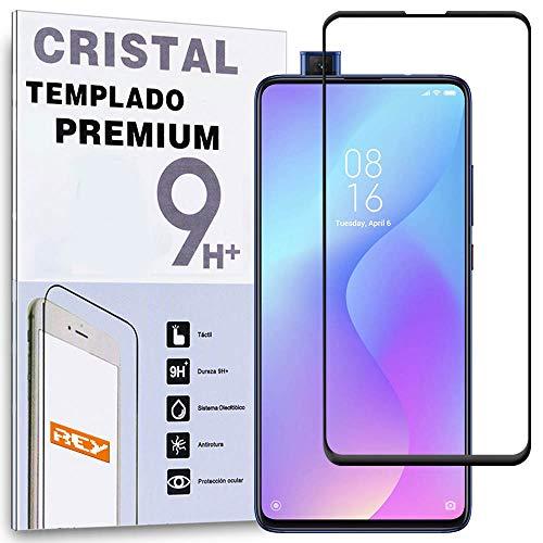 Protector de Pantalla Curvo para XIAOMI MI 9T - MI 9T Pro - XIAOMI REDMI K20 - K20 Pro, Negro, Cristal Vidrio Templado Premium, 3D   4D   5D