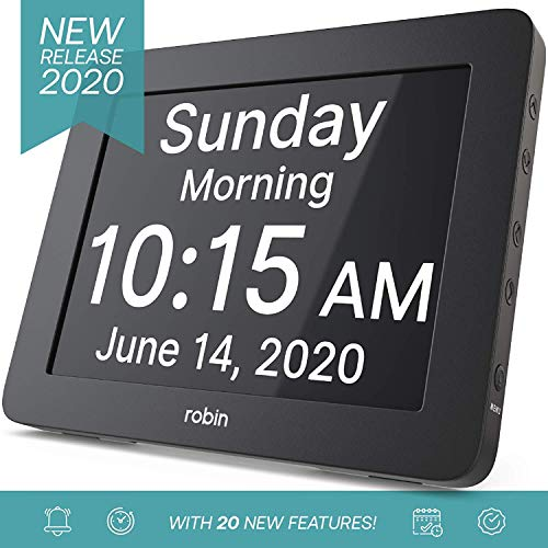 Memory Day Clock 2.0 with Custom Alarms and Calendar Reminders,