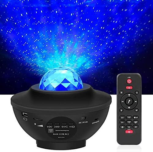 LED Projektor Sternenhimmel mit Fernbedienung, 3 in 1 Galaxy Light, Sternenlicht Stern...