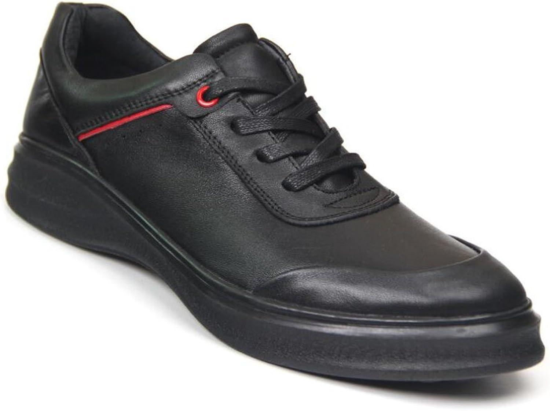 Men's Leather shoes, Flat shoes,Single shoes,Classic Lace up Casual shoes, Gym shoes,Men's Fashion shoes, Black