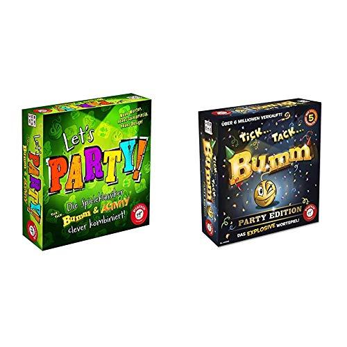 Piatnik 6382 - Activity Let's Party, Brettspiel & 648366 - Tick Tack Bumm Party Edition