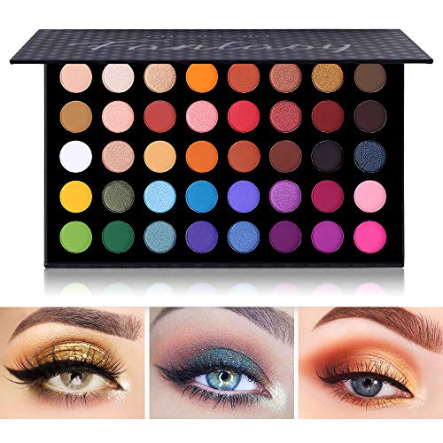 Bunte Lidschatten-Palette Make-up Kontur Metallic Lidschatten-Palette Make-up Matt Schimmer 40 Farben Hochpigmentiert Professional Warm Natural Bronze Neutral Smoky Cosmetic
