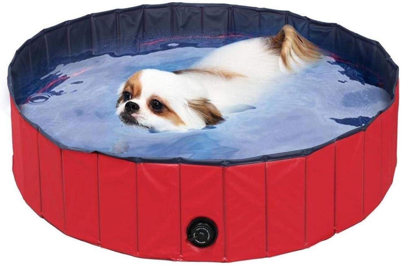 AutumnFall Peg Bath Tub,2018 New Creative Foldable Dog Paddling Pool Swimming Pet Bath Garden Water Play Outdoor Fun (120x30cm 47.2x11.81inch, Red)