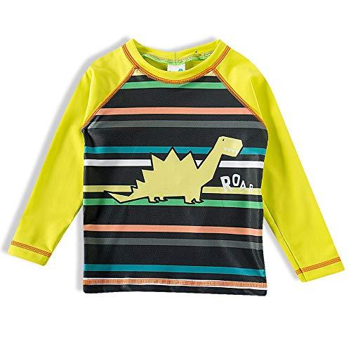 Camiseta Praia Manga Longa Elastano Dinossauro,Tip Top, Kids Menino, Verde, 4