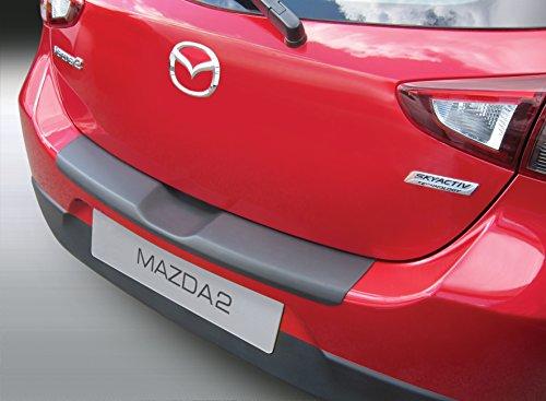 Aroba AR955 Ladekantenschutz kompatibel für Mazda 2, 3/5 Türer ab BJ. 02.2015 bis 10.2019 Stoßstangenschutz passgenau mit Abkantung ABS Farbe schwarz