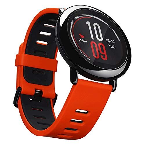 شياومي هوامي امازفيت ، ساعة ذكية لاستعادة لياقته ، حمراء ، مع مراقب معدل ضربات القلب ، بلوتوث 4.0 لأجهزة iPhone و iOS و Android