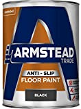 Armstead Trade Anti-Slip Floor Paint Anti Slip Floor Paint 5 L - Pinturas de pared para interior (Pintura, Preparado, Concreto, Piso, Madera, Negro, Mate, 5 L)