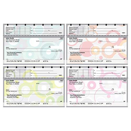 Carousel Checks Inc Stylish Patterns Top Stub Value Priced Personal Checks, 4 Boxes of Checks, 640 Checks
