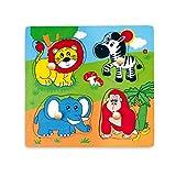 Viga Toys - Puzzle de madera (4 piezas, 22 cm)