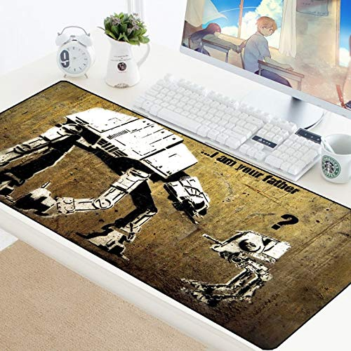 TonyJameJPStore Star Wars 90x40CM Large Gaming Keyboard Mouse Pad Computer Gamer Tablet Desk Mousepad with Edge Locking XL Office Play Mice Mats - StarWars-087 - 600x300 mm