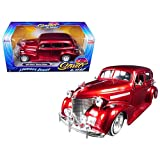 Jada 98914 1939 Chevrolet Maser Deluxe Red Lowrider Series Street Low 1/24 Diecast Model Car
