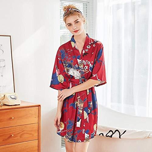 YRTHOR Kimono-Bademantel für Damen, aus Satin, für Braut, Brautjungfer,...