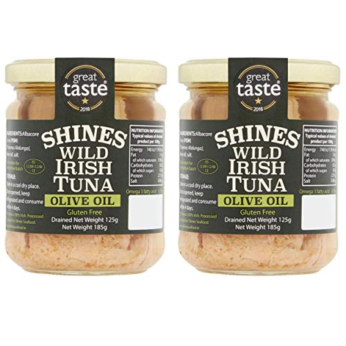 Wild Irish Albacore Tuna in Olive Oil - 2 x 185g - Low Carb - Ideal for...